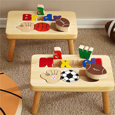 Personalized Puzzle Step Stools For Kids