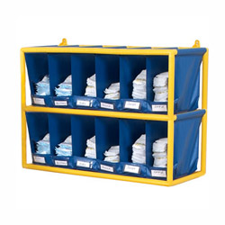 Smart  Organized This diaper station is perfect for holding many different diaper sizes This open easy access storage cabinet has substantial space for diapers and other sanitary clean-up supplies Each bin comes with a clear label holder for describing its contents