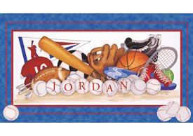 Personalized Sports Equipment Wall Art