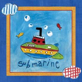 Go Man Go Submarine Art