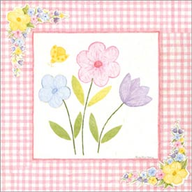 Art4Kids/Creative Images Pink Gingham Flowers Artwork
