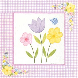 Art4Kids/Creative Images Lavender Gingham Flowers Artwork