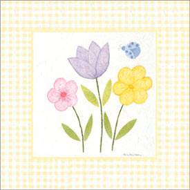 Art4Kids/Creative Images Yellow Gingham Flowers Artwork