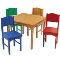KidKraft Primary Nantucket Table Set