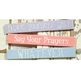 Decorative 3 Foot Board With Saying