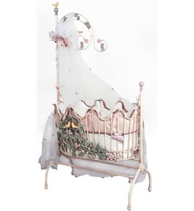 Corsican Magic Garden Iron Baby Cradle