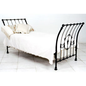 Corsican Heirloom Sleigh Iron Bed