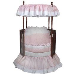 Baby Doll Pretty Pique Round Crib Bedding