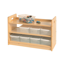 Little Colorado Natural Eight Bin Toy Organizer and Shelf