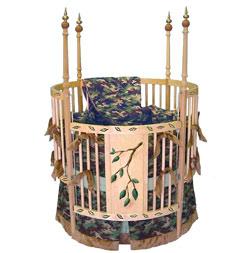 Army Green Camo Round Crib