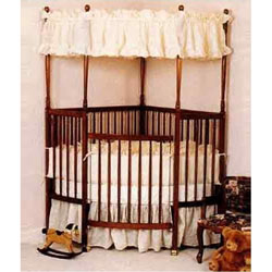 Baby Doll Eyelet  Corner Crib Bedding