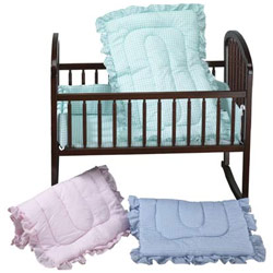 Baby Doll Gingham Portable Crib Set