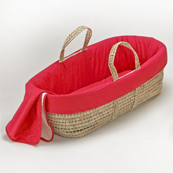 Baby Doll Solid Color Moses Basket