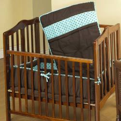 Coco Dot Porta Crib Bedding