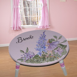 Fairy Wishes Oval Step Stool