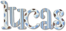 Blue And Chocolate Wall Letters