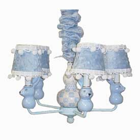 Just Too Cute Blue Bunny Chandelier