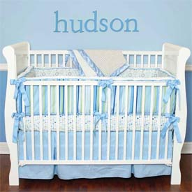 Caden Lane Hudson 4 Piece Crib Bedding Set