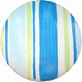 Blue and Green Striped Knob (Packs of 6)