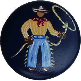 Happy Trails Denim Cowboy Knobs