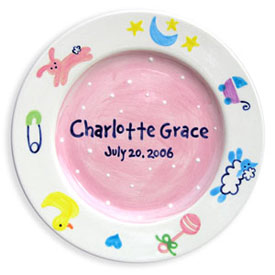 Little Worm And Company Charm Birth Plate