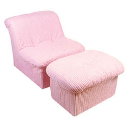 Kid's Cloud Chair and Ottoman