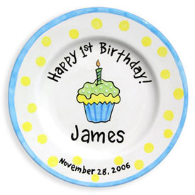 Little Worm And Company Birthday Cupcake Name Plate