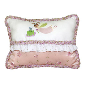 Doodlefish Embroidered Princess Pillow