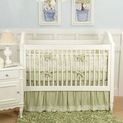 Doodlefish Baby Toile 3 Piece Crib Bedding Set