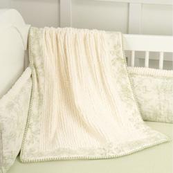 Doodlefish Baby Toile Blanket