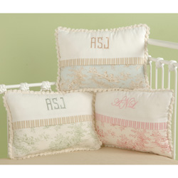 Doodlefish Baby Toile Decorative Pillow