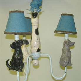 Just Too Cute Dog Chandelier