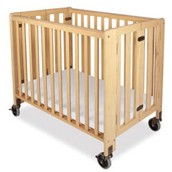 Foundations Hideaway Compact Sized Folding Crib