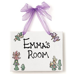 Jamies Painting and Design Fairies Name Plaque