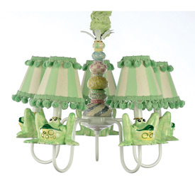Just Too Cute Whimsical Frog Chandelier