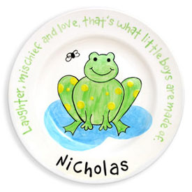 Little Worm And Company Frog Name Plate