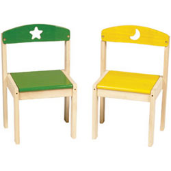 Guidecraft usa Moon and Stars Extra Kid's Chairs