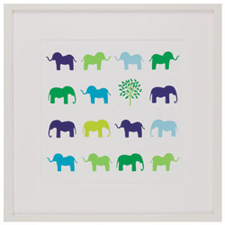 Green Frog Art Animal Sudoko - Elephants
