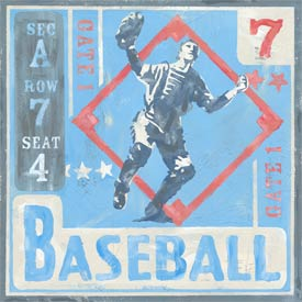 Baseball Tickets Canvas Reproduction