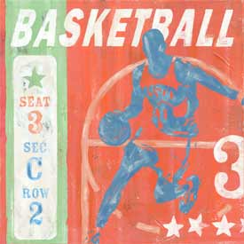 Basketball Ticket Canvas Reproduction