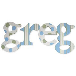 Gregs Dots And Stripes Letters