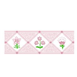 Pink Bouquet Wallpaper Border