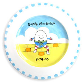 Little Worm And Company Humpty Dumpty Birth Plate