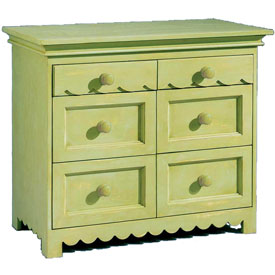 Scalloped 6 Drawer Chest