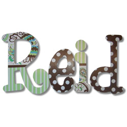 Reid's Paisely Wall Letters