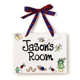 Jamies Painting and Design Big Bugs Name Plaque