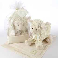 Kate Aspen Love Ewe Plush Lamb and Lovie Gift Set