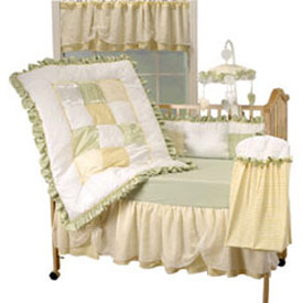Lilipou Elegant Sunshine 4 Piece Crib Bedding Set