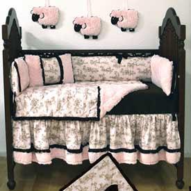 Vintage Lane 4 Piece Crib Bedding Set