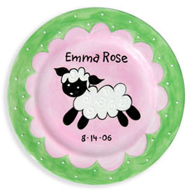 Little Worm And Company Little Lamb Birth Plate